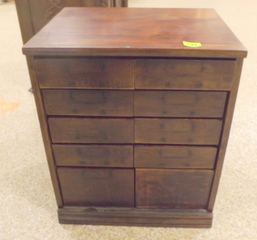 Wood Cabinet with 10 drawers furniture