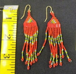 Beadwork earrings, jewelry
