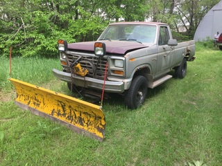 1980 Ford F-250 w/ 8' Snow Plow Blade, Exempt Miles