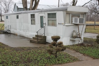 1950's Mid-Century Modern Mobile Home w/ Wood Interior Arched Ceilings, 2BR, Kitchen, Living Room, Bath Room - Buyer to Remove, Needs Restoration, Very Retro!