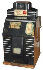 Antique Slot Machine, Jennings Victory, Nickel, VG Working Condition