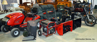 Mower, Snowblowers, '76 CB750, Generator, & More!