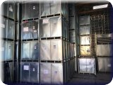 STORAGE CONTAINERS and IRON MIKE Batting Cage Machines