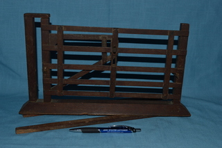 Salesman Sample wooden gate