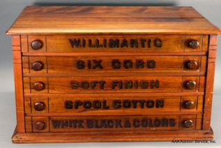Willimantic Spool Cabinet