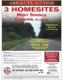 Merit Springs home-sites in Gadsden, Alabama