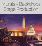 Stage production 100's of murals, backdrops, artwork and set designs