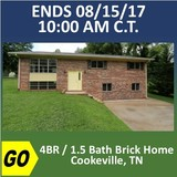 Absolute Online Auction - 4BR / 1.5 Bath Brick Home