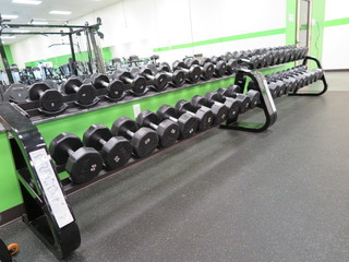 Complete Dumbbell Set W/Racks