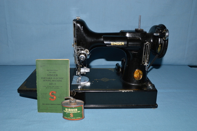 featherweight sewing machine lamp lair trust public auction jerry stichter auctioneer