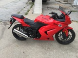 TIMED NO RESERVE AUCTION: 2009 Kawasaki Ninja EX250-J Racer, Red, 1 Owner