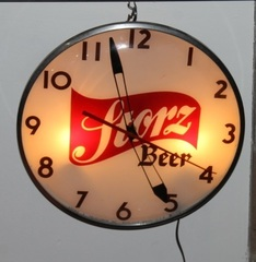 Vintage Storz Beer Telechron Lighted Electric Clock, Near Mint, Works Great