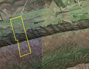 Property Aerial view w/ Boundary Lines