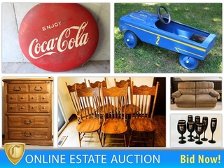 Huge Estate Auction: Furniture & Décor, Breech Loading Antique Rifle, Knife Collection & More!