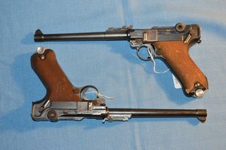 Two Luger, 1917, Artillery DMW pistols