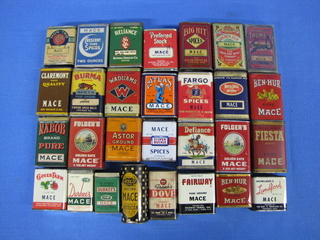 Mace tins, collection
