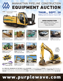 Manhattan Pipeline Construction Equipment Auction