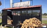 Restaurant Equip, Smoker/Cooker Trailer Unit, CocaCola Items