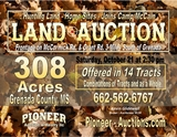 Grenada County MS - 308 ac. Hunting Land - Home Sites Offered in 14 Tracts