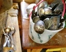 old silver spoons etc.: