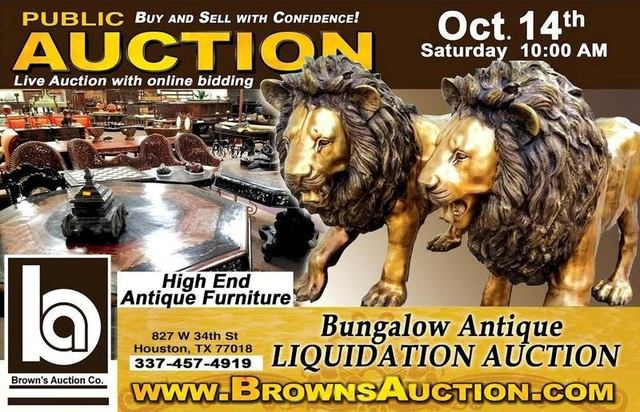 Auction Listing - High End Antique Furniture Auction - Brown's Auction Brown's