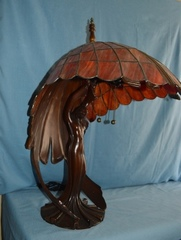 Art Deco Slag Panel Shade Lamp