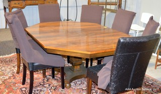 Art Deco Rosewood Pedestal Table