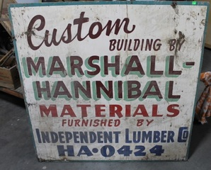 Hand Painted Old Trade Sign