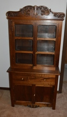 Small walnut cupboard