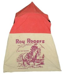 Roy Rogers tent, mfgd by Hettrick Mfg Co.-Toledo, OH, canvas, comes w/metal frame, VG cond, larger size.