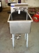 "Stainless steel single tub sink w/legs 18"" tub x 18"" tub (47"" tall):"