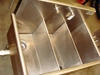 Lot 4 Stainless steel 3 tub Advance Tabco sink on legs: