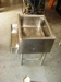 Lot 5 Stainless steel tub sink on short legs: