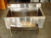 Lot 6 Stainless steel single tub sink by Supremetal on legs: