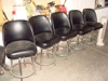 Lot 19  Five vinyl swivel bar stools: