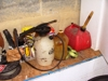 Lot 36 Lot of misc. garage items w/garden sprayers, etc: