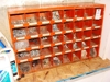 Lot # 39 Nut and bolt organizer w/bolts, etc.: