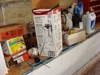 Lot 38 Lot of misc. garage items w/oils, lubes, etc: