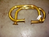 "Lot 41  Brass bar handles 24"" x 14"":"