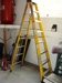 Lot 46 Green Bull fiber glass 8 ft. step ladder: