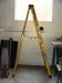 Lot 46 Green Bull fiber glass 8 ft. step ladder,: