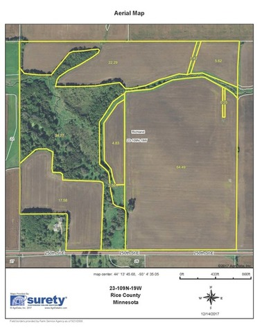 ACRES OF PRIME BARE CROP LAND SELLING AT ABSOLUTE AUCTION - Surety maps