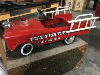 1960's AMF Fire Fighter Unit No. 508 Pedal Car w/ Original Ladders, Light & Bell, VG Condition