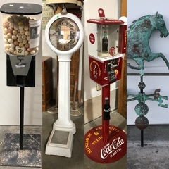 Coin-Ops, Vending Machines, Penny Scale, Rare Copper Horse Weather Vane