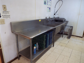 S/S triple commercial sink
