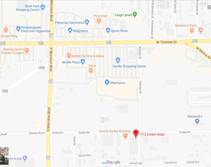 Google Map with nearby businesses