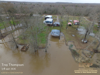 Waterfront Camp For Sale on Little River near Marksville, LA