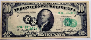 $10.00 FRN Error Note