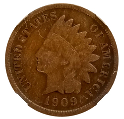 1909S Indian Cent, NGC VF-20BN