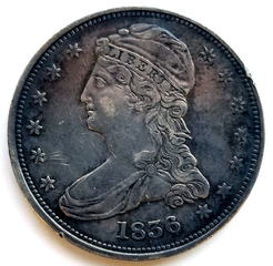 1836 Reeded Edge Half Dollar, VF